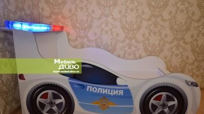 Детская кровать-машинка полиция