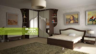 Спальня скомбинированными цветами ДСП